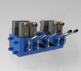 電気油圧方向制御バルブ CMJF20 80/210 リットル/分
